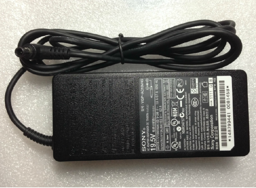 Original original 120W For Sony vaio VPCF23S1R/B VPCF23X1R/BI AC Adapter Charger + Cord