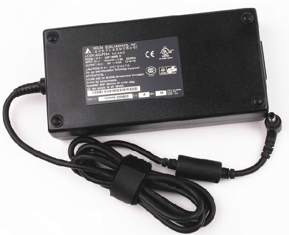 Original Delta 180W Schenker XMG P502-5OC AC Adapter Charger + Free Cord